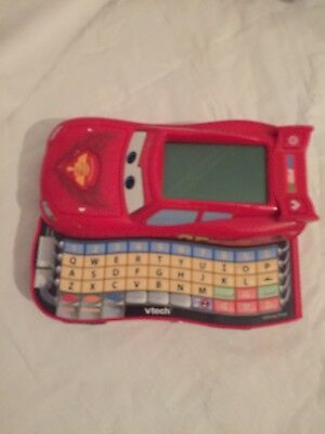 Cars Lightning McQueen Vtech Electronic Computer Game Letters And More -(19//