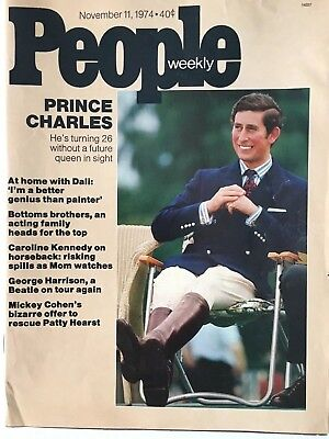 People Magazine - Prince Charles - November 11, 1974 - Good Condition