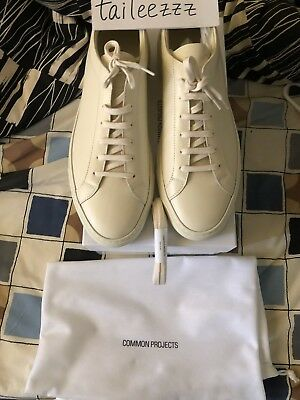 9c64b89dabac NEW COMMON PROJECTS ACHILLES ORIGINAL LOW Warm White Leather EU 44 US 11 UK  10