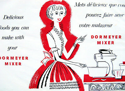 Vintage 50s Recipe Booklet Dormeyer Mixer Assembly Cakes Cookies Pies Cookbook