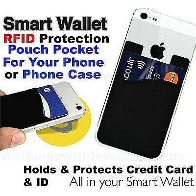 Adhesive Stick On Safety Sleeves RFID Protectors Credit Card & Identity Theft