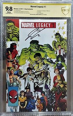 Marvel Legacy #1 eBay Exclusive Variant, CBCS 9.8 NM/M, Signed by Jason Aaron