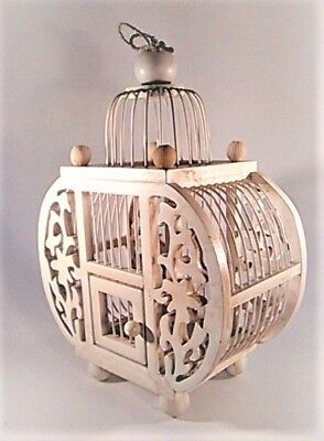 Romantic Victorian Tea Stained Birdhouse Floral Cut OutsTable Hang