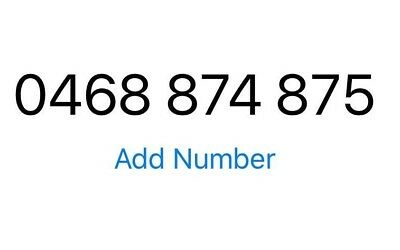 Silver Mobile Number 0468 874 875