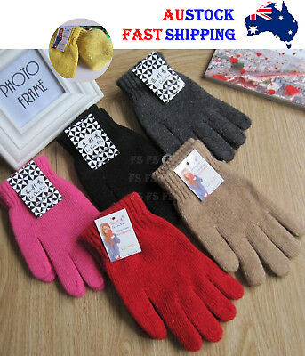 Men Women Unisex Winter Gloves Glove New Fashion Knit Wool Gloves  *Aus Stock*