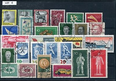 DDR Lot gestempelte Briefmarken laut SCAN (Lot 4)