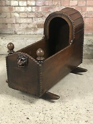 A Rare 18th Century Baby's Cradle Crib