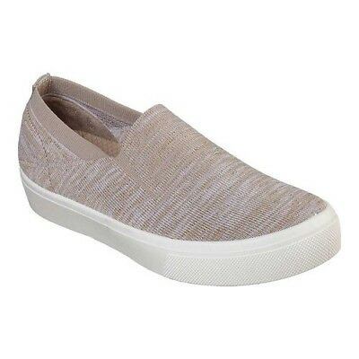 detailed look 03e7f 801a0 Skechers Women s Poppy Cloud Dust Slip-On Sneaker Taupe Size ...