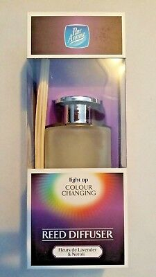 Pan Aroma Light Up Colour Changing LED Reed Diffuser-Fleurs de Lavender & Neroli