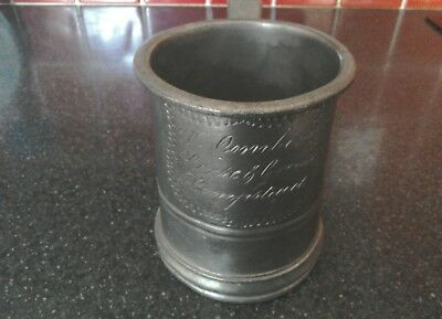 Rare Antique One Pint Pewter Tankard - Sir G Alderson- Horse And Groom Hampstead