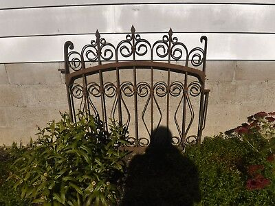 Antique Ornate Victorian WROUGHT IRON FENCE GATE Garden Architectural Salvage