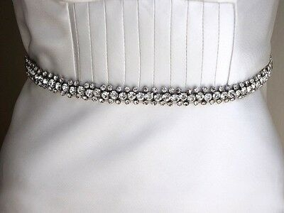Sale-Wedding sash belt, Swarovski belt, Rhinestone belt, Crystal, Ribbon belt