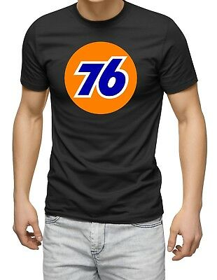 Retro Union 76 Petrol T-Shirt, gas station, US oil, motorsport, car, auto black
