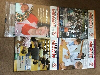 'The Practising Midwife' Magazines.  Midwife. Midwifery Student. FREE DELIVERY