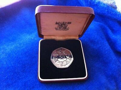 *RARE* BREXIT PROOF 1973 RING OF HANDS EEC 50p COIN ROYAL MINT CASED - FREE POST
