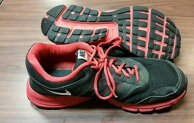 reputable site aef4b 38361 Nike Air Relentless 4 Mens Size 11 Running Athletic Shoes Black Red  685138-006