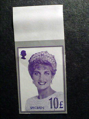 Great Britain stamp with Princes Diana. Specimen 10£. Not used, not hinged.