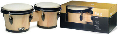 Stagg BW-100-N 6,5 Zoll + 7,5 Zoll Traditionelles Bongo Set Holzkessel