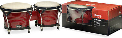 Stagg BW-200-CH 6,5 Zoll + 7,5 Zoll Latin Bongos Holzkessel