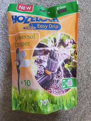 10 X Hozelock Universal Dripper Easy Drop Irrigation Watering 7011