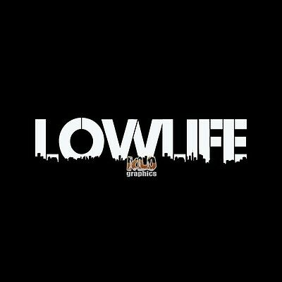 LOWLIFE Car vinyl sticker decal FUNNY Low Rider DROPPED SOCAL LOW RIDER