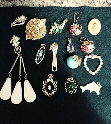 VINTAGE LOT of  Pendants Assorted Styles & Sizes & Materials & Colors!