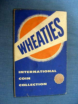 Wheaties Cereal International Coin Collection Booklet 2 coins