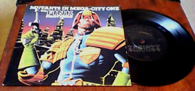 "Fink Brothers Mutants In Mega-City One Uk 7"" Ps 45 2000Ad Judge Dredd Madness"