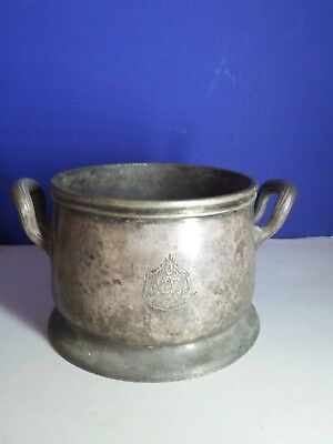Antique Collectible Reed & Barton Silver Soldered Ice Bucket Beverly Hills Hotel