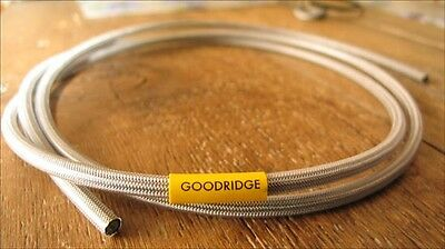 Goodridge braided brake hose-3-race/rally 5 meters With CLEAR PVC COVERING