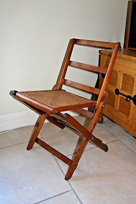 Arts and Crafts Artist / campaign chair with french caning: VGC : Makers name.