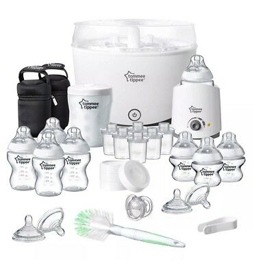 New Tommee Tippee Closer To Nature Complete Starter Kit Steriliser Bottle Warmer