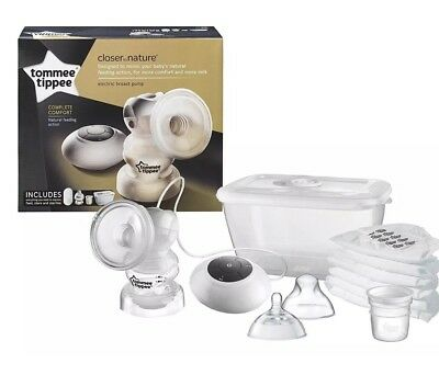 BNIB Tommee Tippee Closer To Nature Electric Breast Pump Baby Feeding Set