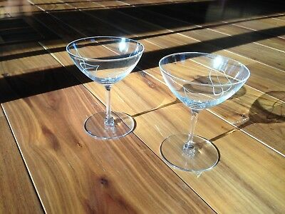 Vintage Coupe Glasses - Crystal - Be like the Mad Men