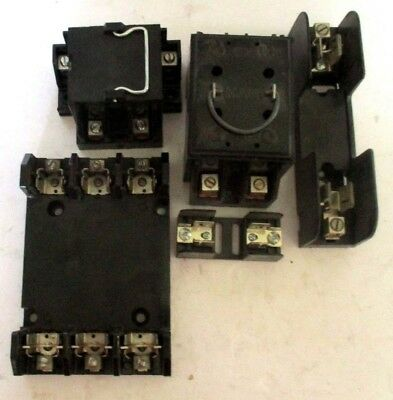 lot of (2) wadsworth disconnect main fuse pull out fuse holder 60 Auto Fuse Connectors mixed lot shawmut littlefuse main fuse box holder pull out 60amp class r