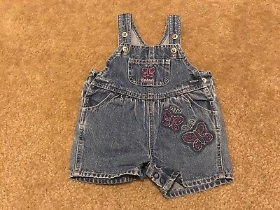 7df81c6ff Baby Girl's 0-3 Months Jean Overalls Shorts OshKosh B'gosh Pink Butterflies  Cute