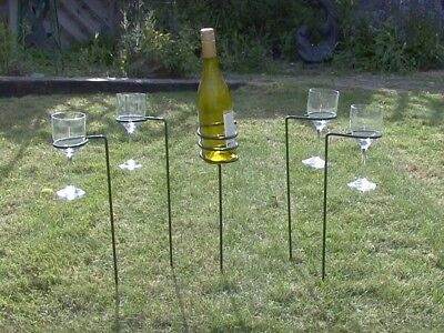 Garden Drinks Holders / Outdoor Drinks Holders - Wine Bottle Holder And Wine -