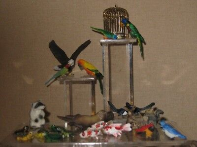 A Variety of Resin Animals for Dollhouse Miniatures.