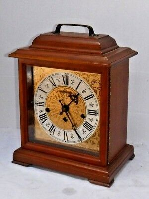 Fine Hamilton U.s.a 340-020 Westminster Chime 8 Day Bracket Clock Working W/ Key