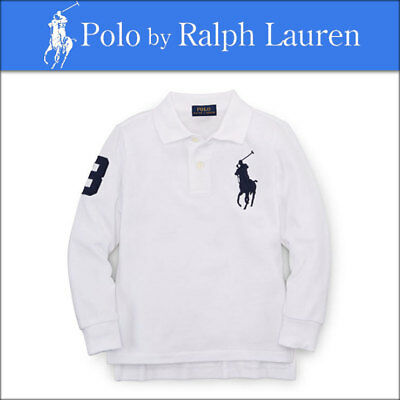 Polo by Ralph Lauren Baby Boys Size 9 Months Long Sleeve White Cotton Shirt NEW
