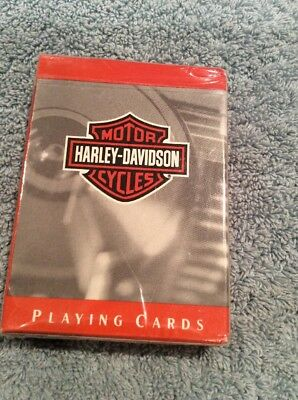 New Harley Davidson Playing Cards Bar & Shield Deck New In Sealed Packaged