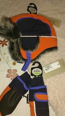 m&s boys 6-18 months hat and gloves set