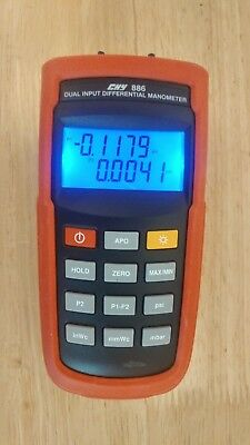 CHY 886 Dual Input Differential Manometer