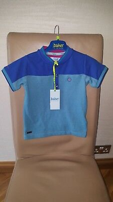 Boys Ted Baker Blue Top Age 18-24 Months New