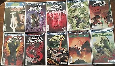 Green Arrow Rebirth issues #1-12 NM 1st Prints DC Ben Percy Otto Schmidt