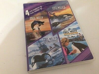 Free Willy 4 Film Favorites DVD 2/3/Escape From Pirate's Cove/Adventure Home !!!