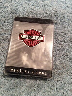 Genuine Harley Davidson Playing Cards Grey Color New Sealed U.S. Playing Card Co