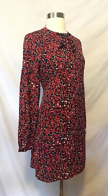 3b0b7dbec044 Size Small S Hayden Los Angeles Tie Neck Red Retro VTG Polka Dot Dress NWT  New