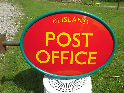 Post Office Double Sided Sign wall mounted Blisland Cornwall