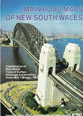 1982 Main Road Maps of New South Wales by Commissioner for Main Roads